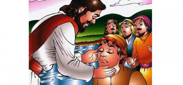 Missa com crianças Jesus cura o cego